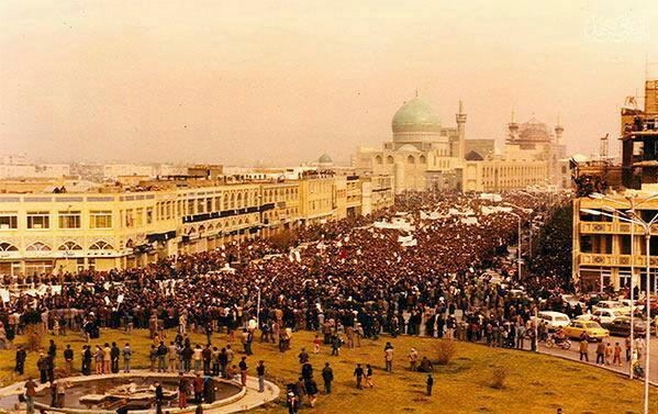 عکس از شهر مشهد در زمان انقلاب